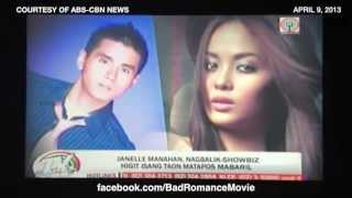 "Janelle Manahan on TV Patrol for ""Bad Romance"""