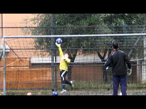 Entrainement spécifique gardiens de but de football U12 au Cavigal Nice