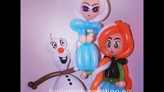 getlinkyoutube.com-Olaf balloon tutorial - from Frozen Disney