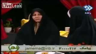 Woman Fall of Chair During Live TV Broadcasting in Iran