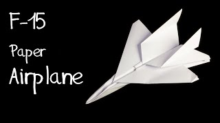getlinkyoutube.com-How to make an F15 Eagle Jet Fighter Paper Plane (Tadashi Mori)