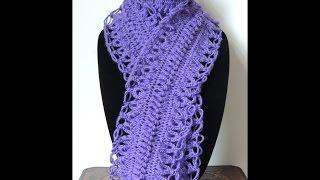 getlinkyoutube.com-Crochet y Horquilla : Bufanda # 2