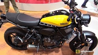 getlinkyoutube.com-2016 Yamaha XSR700 ABS 60th Anniversary - Walkaround - Debut at 2015 EICMA Milan