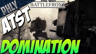 getlinkyoutube.com-Star Wars Battlefront Gameplay - ATST ANNIHILATION - Battlefront Beta!