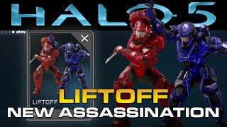 "getlinkyoutube.com-Halo 5: Guardians - New RARE Assassination ""Liftoff""!"