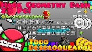getlinkyoutube.com-Hack Para Geometry Dash PC [2.0/2.01/2.02] TODO DESBLOQUEADO 2016