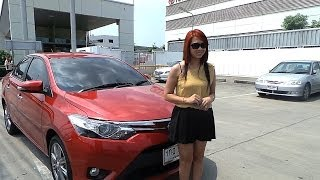 getlinkyoutube.com-Ladytips - Test Drive Toyota ALL NEW VIOS HAVE IT ALL(รีวิว Toyota New Vios)