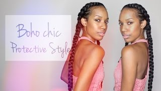 getlinkyoutube.com-Boho Chic Protective Style ft. Creme of Nature Products​​​ | simplybiancaalexa​​​
