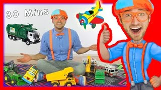 getlinkyoutube.com-Toy Videos for Children with Blippi | Learn Numbers 30 Minutes