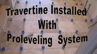 getlinkyoutube.com-How to install travertine tile with Proleveling System