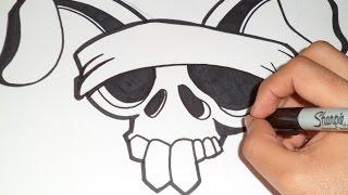 getlinkyoutube.com-como desenhar um crânio do coelho Grafite | Wizard art - by Wörld