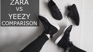 getlinkyoutube.com-Zara Yeezy Boost Sneaker Comparison | Gallucks