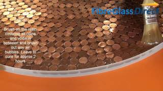 getlinkyoutube.com-Making a Penny Table Top with Resin