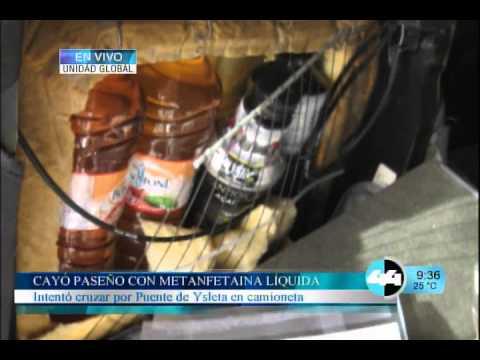 CAYÓ PASEÑO CON METANFETAMINA LIQUIDA