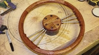 getlinkyoutube.com-Shaping and Rounding off a Wooden Steering Wheel