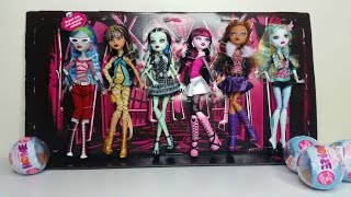 getlinkyoutube.com-Monster High Rerelease 6 Pack Review - Ghoulia, Cleo, Frankie, Draculaura, Clawdeen & Lagoona