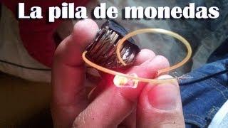 getlinkyoutube.com-Cómo hacer una pila de monedas - Pila casera (Experimentos Caseros)