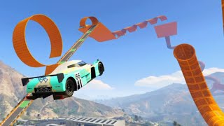 getlinkyoutube.com-GTA 5 Epic Hot Wheels Stunt Race Track Cunning Stunts DLC