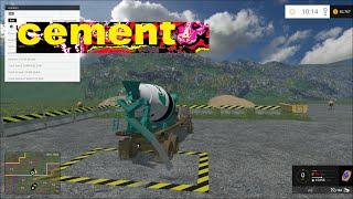 Farming simulator 2015 Hauling cement and more!!