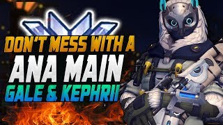 Perfect duo - GALE #1 ANA and KEPHRII insane Tracer! [ OVERWATCH SEASON 11 TOP 500 ]
