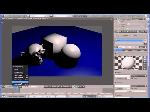 Blender Introduction to Materials - Making Shiny Reflective Metals, Steel and Gold Part 1