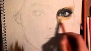 Surrealistic Color Pencil Drawing (undone)
