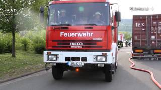 Feuerwehr Einsatz am Altenheim - Kaltennordheim probt den Ernstfall