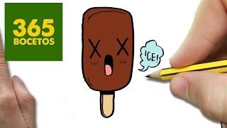 getlinkyoutube.com-COMO DIBUJAR PALETA HELADA KAWAII PASO A PASO - Dibujos kawaii faciles - How to draw a Paleta helada