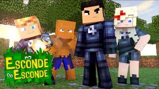 getlinkyoutube.com-Minecraft: QUARTETO FANTÁSTICO - O FILME! (Esconde-Esconde)