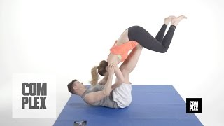 getlinkyoutube.com-Couples Games: Trying Acroyoga Poses for the First Time On Complex