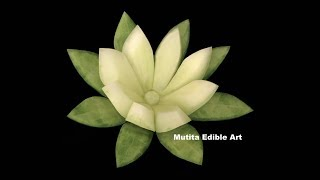 Cucumber Lily Flower Design - Beginners Lesson 24 By Mutita The Art Of Fruit And Vegetable Carving
