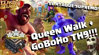 getlinkyoutube.com-ATAQUE INVENCIBLE EN TH9!!! Queen Walk con GoHoBo!!!
