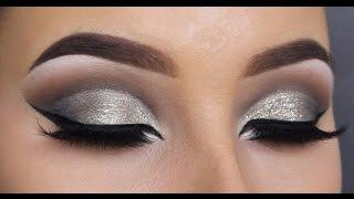getlinkyoutube.com-HOW TO create a glitter cut crease - MAKEUPBYAN