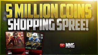 getlinkyoutube.com-Building the Best Team - 5 MILLION COINS SHOPPING SPREE! Madden Mobile 17