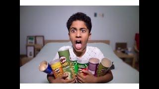 getlinkyoutube.com-Aboodroid | Pringles Challenge  | تحدي البطاطس