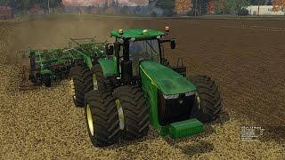 getlinkyoutube.com-Farming Simulator 2015:  John Deere 9560RT & 2720 Disk Ripper Soil Management