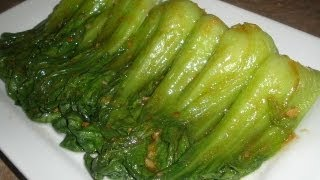 getlinkyoutube.com-How to make Chinese Baby Bok Choy with Garlic and Oyster Sauce
