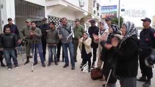 getlinkyoutube.com-معاقون أمام وزارة الحقاوي