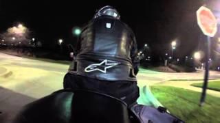 getlinkyoutube.com-Feiyu Tech Gimbal FY-WG-LITE 1-Axis Wearable Gimbal - Night motorcycle test - Gopro 3+