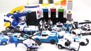 getlinkyoutube.com-Tayo Let's go Police Rescue Station and Police Vehicle Toys for kids Car toys