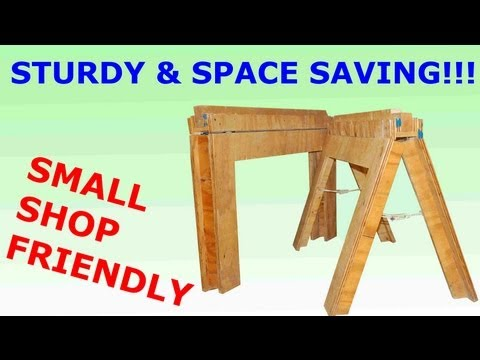 DIY Folding Sawhorses- How To Build
