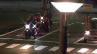 getlinkyoutube.com-東武東上線・若葉駅前 バイクで暴走行為をする哀れな若者8人