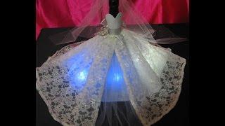 getlinkyoutube.com-Centro de mesa botella vestida de novia