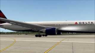 getlinkyoutube.com-MAYDAY! - ENGINE FAILURE @ V1 Delta 767-400ER - X-Plane 10