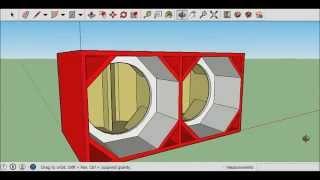 getlinkyoutube.com-Como fazer caixa de grave euclides no sketchup som automotivo