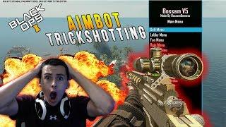 Black Ops 2 Aimbot Trickshotting |Mod Trolling| Mod Menu Trolling +More!