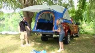 getlinkyoutube.com-Truck Tent Set up Sportz 57 Series  by Napier