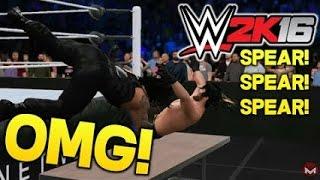 getlinkyoutube.com-WWE 2k16 - All OMG Moments of Reigns, Ambrose, Rollins + The Shield's Triple PowerBomb