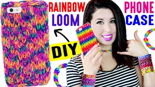 getlinkyoutube.com-DIY Rainbow Loom Phone Case | How To Weave An iPhone Case Without A Loom! Easy, Life Hack & Cheat!