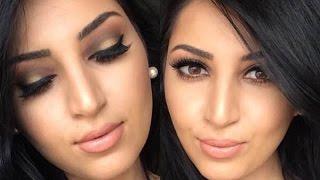 getlinkyoutube.com-Gold and Brown Makeup Tutorial |Morphe Palettes|